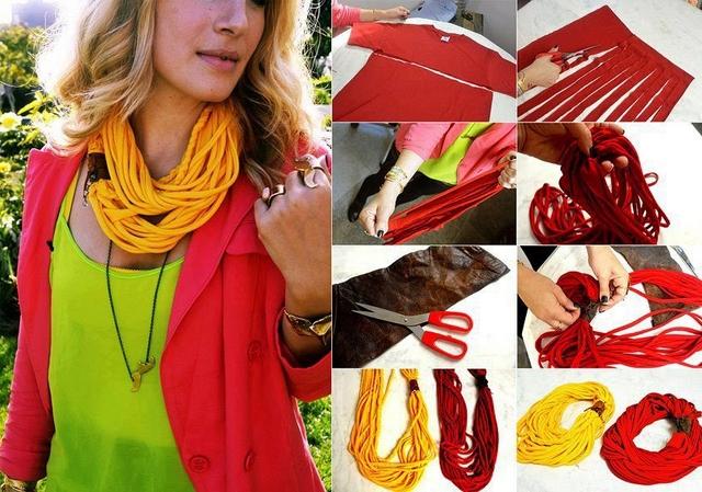 Дизайнерский шарф своими руками 5