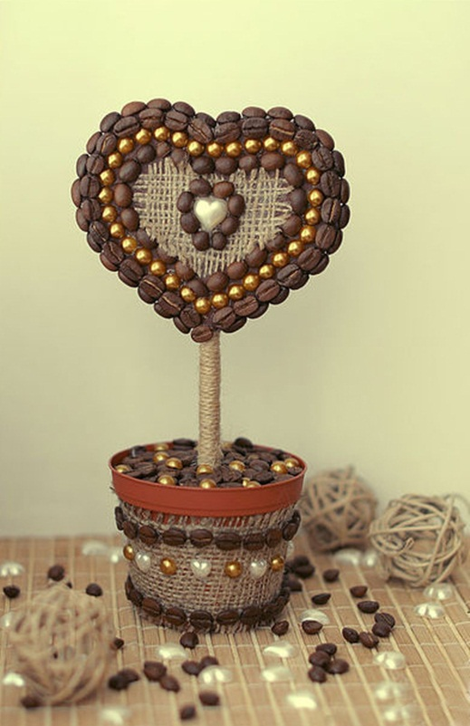 diy valentines day gift topiary tree hearth gold pearls beads