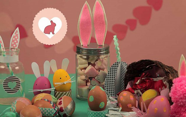 homemade easter gift tutorial bunny ears jar marshmallows