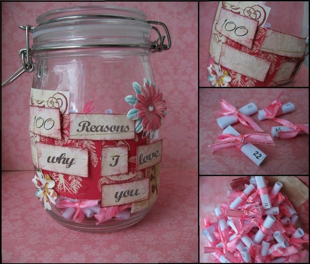 Homemade Valentineu0027s Day Gift Ideas Girlfriend Jar Reasons Love Her