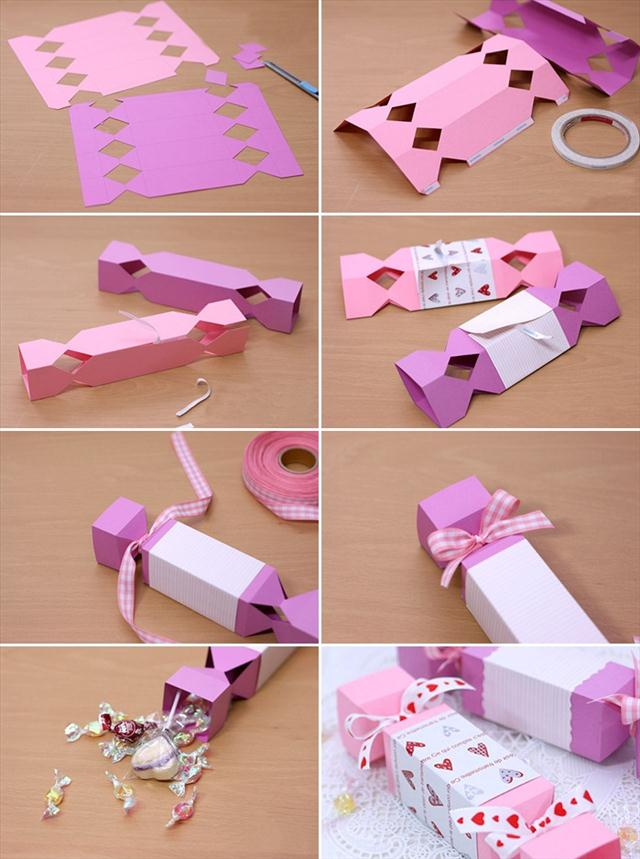 Homemade valentine gifts cute wrapping ideas and small candy boxes