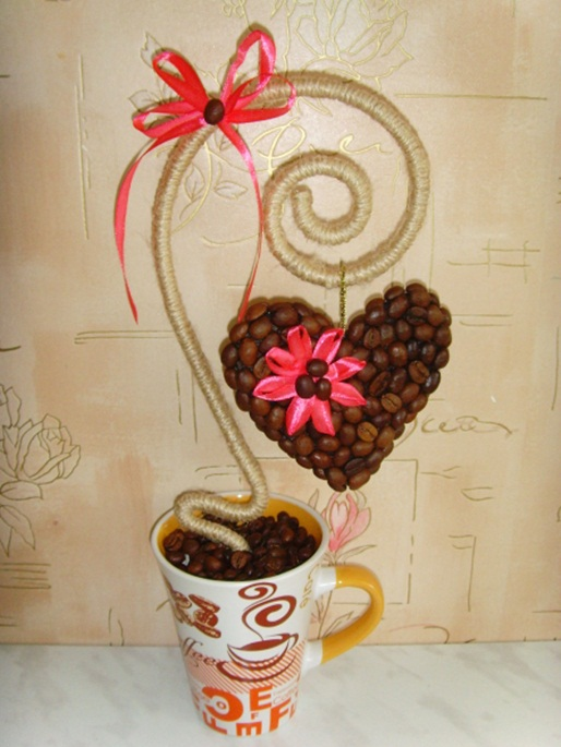 homemade valentines day gift coffee beans hearth mug ribbon
