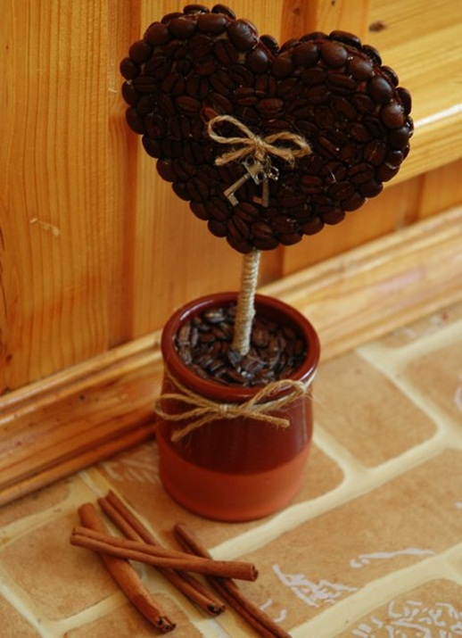 homemade valentines day gift coffee hearth topiary key cinnamon