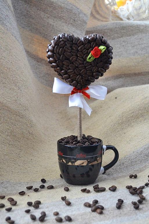 homemade valentines day gift coffee topiary heart mug