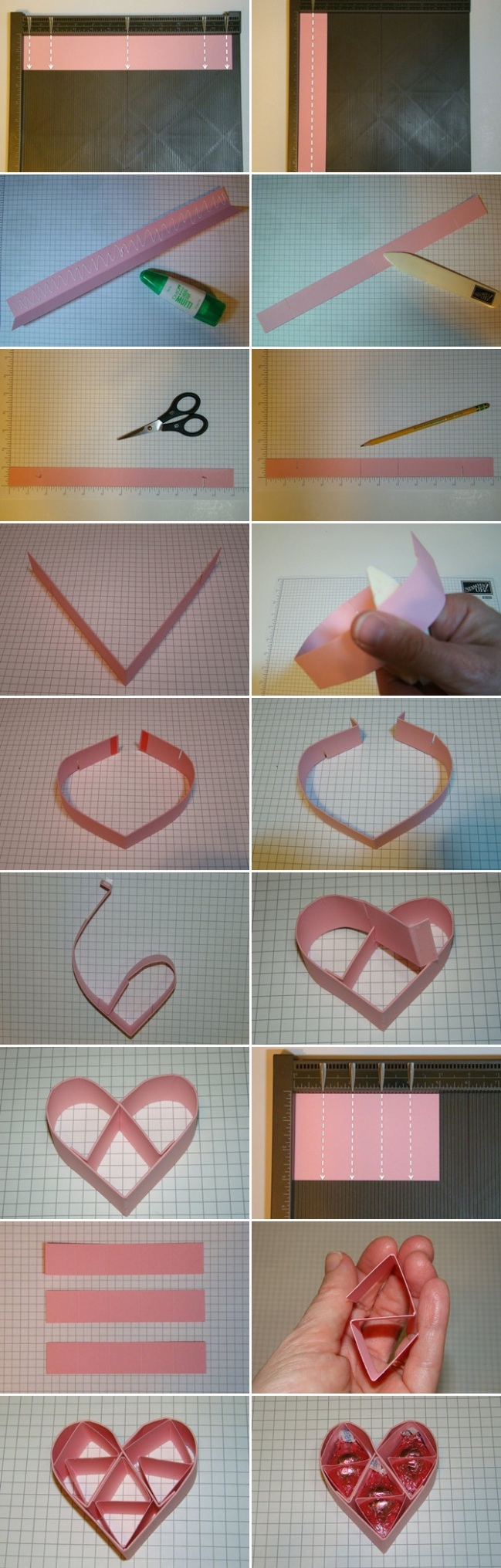 homemade valentines day gift for him folding paper hearts chocolate ...