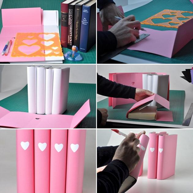 Homemade Valentine's Day gifts for her girlfriend bookworm books paper