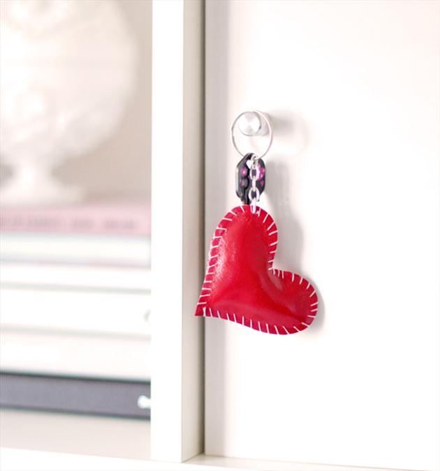 homemade valentines day gifts her key chain red heart - Homemade Valentine Gifts For Her