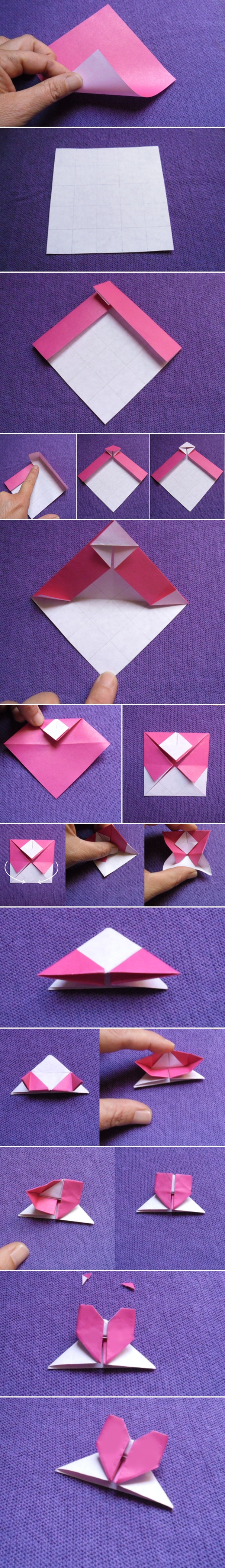 homemade valentines day gifts her origami paper heart tutorial