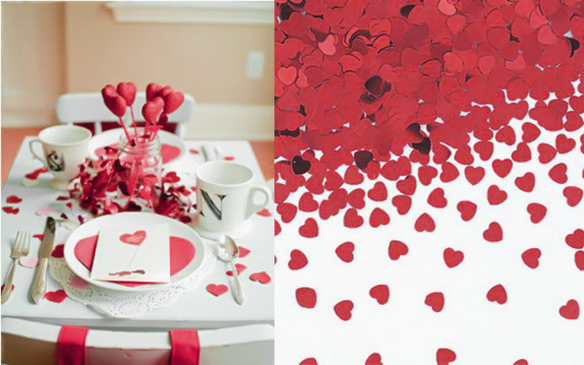 10 table decoration ideas for valentine s day to impress for Heart decoration ideas