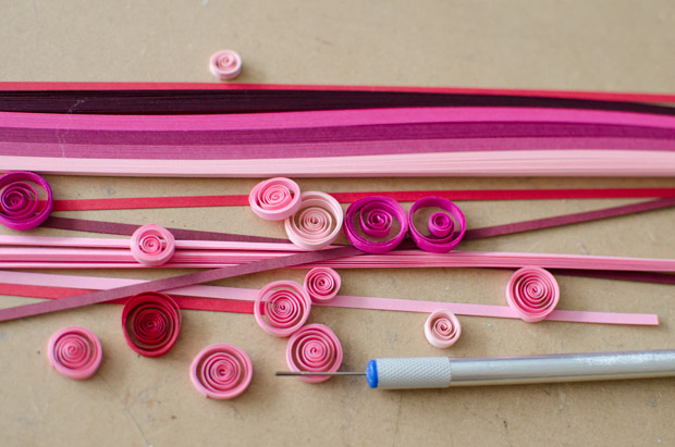valentines day craft idea for kids easy quilling paper diy handmade decorating idea
