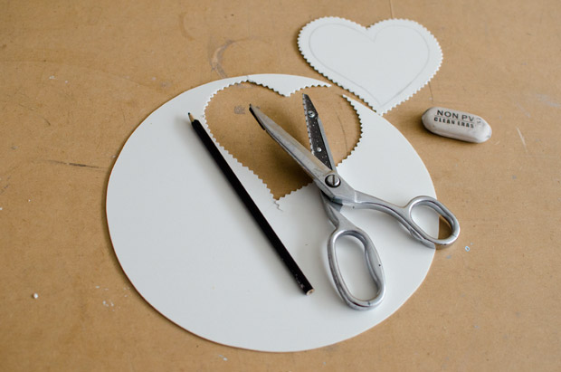 valentines day craft idea for kids step by step tutorial cardboard heart cutting