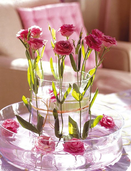 valentines day decorating ideas home centerpiece roses water glass bowls