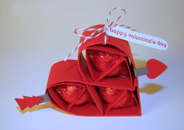 Valentine's Day gifts for him  chocolates kisses red paper heart