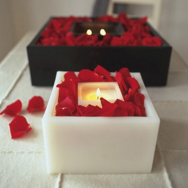 Valentines Day Home Decor Ideas Candles Romantic Mood Red Rose Petals