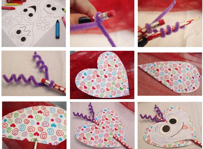 Valentinesdaykidseasyideashandcraftedprojectspencilpipe - Best diy pipe project ideas for kids