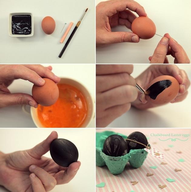 chalkboard easter eggs tutorial kids crafts