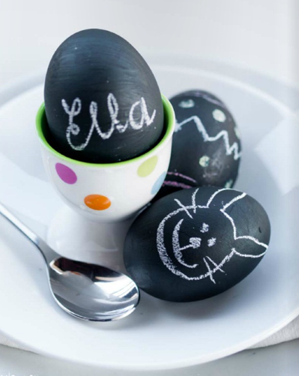 chalkboard eggs black no dye ideas egg decor