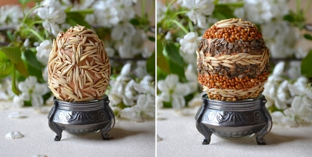 decorate easter eggs natural supplies oats seeds