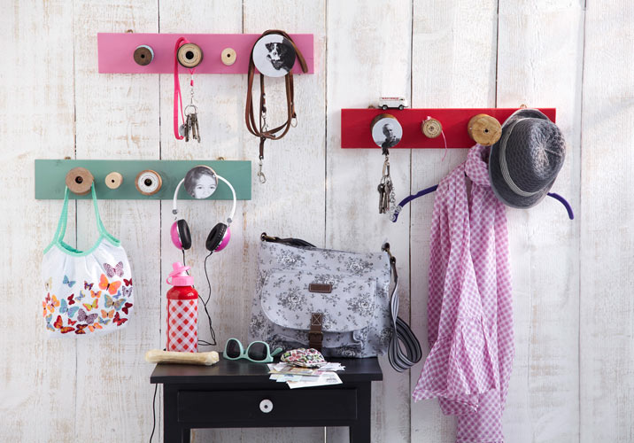 diy coat rack ideas clothes hangers hallway wall art craft