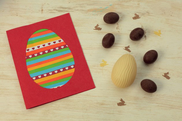 Diy Easter Cards Kids Egg Colourful Idea
