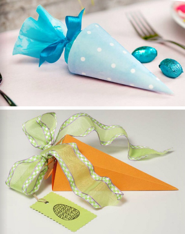 diy easter treat bags candy paper gift kids