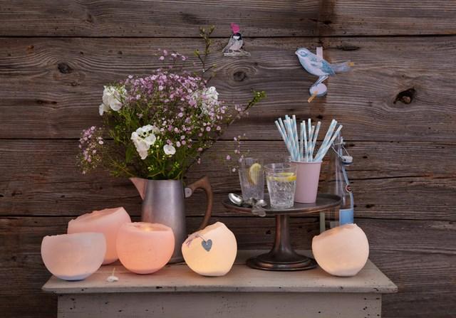 diy outdoor lighting ideas pink wax indoor candlesticks