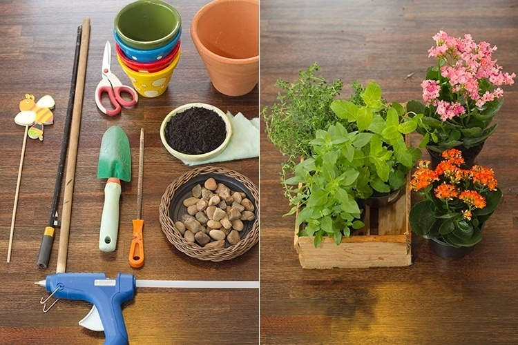 diy vertical herb garden idea kitchen flower containers