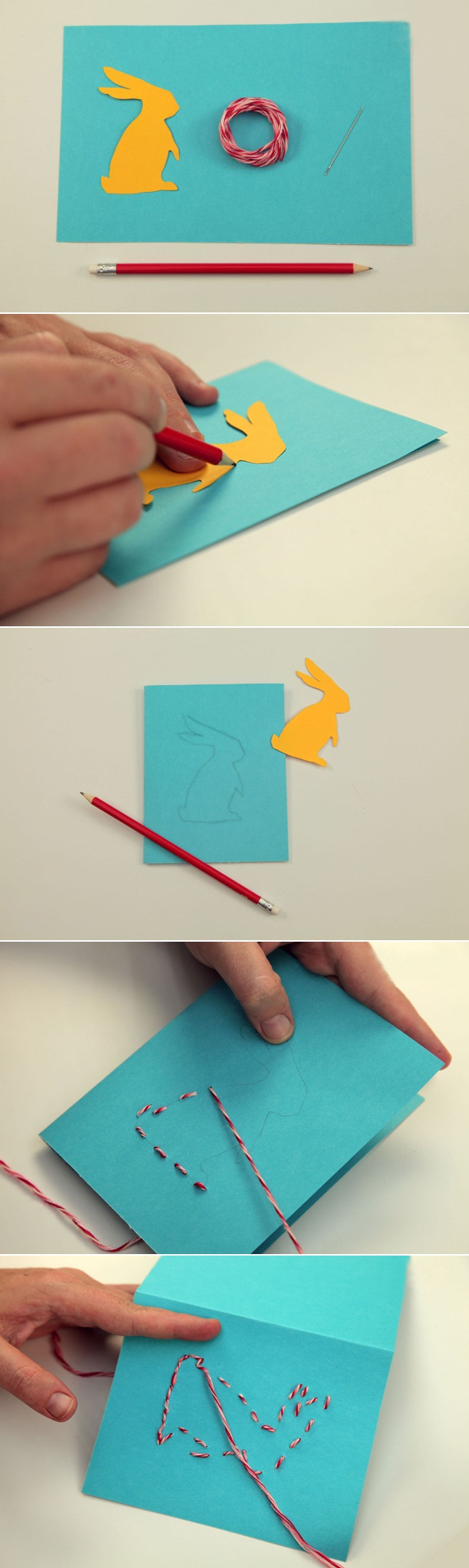 Easter craft ideas for kids to make 4 easy diy easter cards for Easy handmade crafts for kids