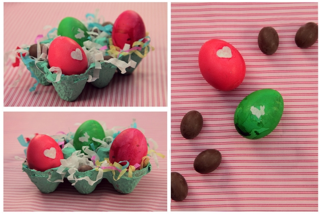 easter eggs decorating ideas dyeing heart bunny pattern