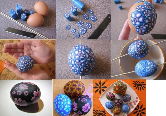 easter eggs decorating ideas polymer clay