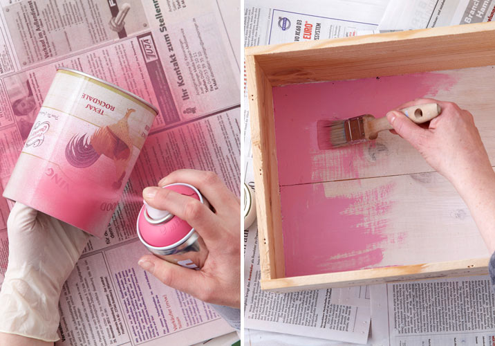Creative Spray Paint Ideas Part - 22: Diy Spray Painting Wall Storage Ideas For Home Step By Step