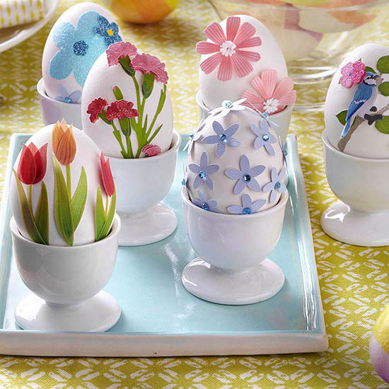decorate Easter eggs paper-decorations