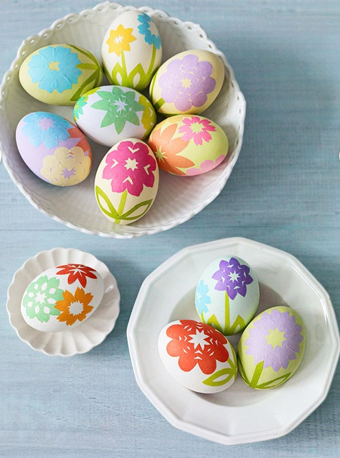 decorate-easter-eggs-paper-stickers-flowers