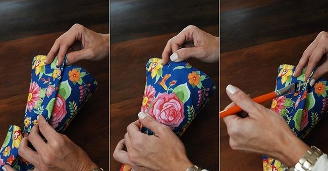 decorating flower pots ideas diy tutorial fabric