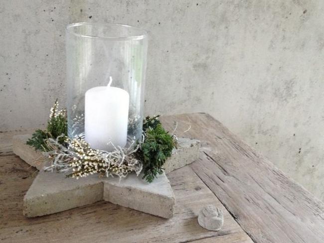diy concrete base glass candle holder patio table centerpiece
