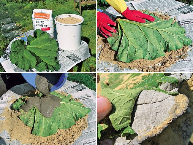 22 diy concrete projects and creative ideas for your garden diy concrete projects moulds bird bath rhubarb leaf mould solutioingenieria Image collections