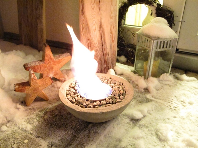 diy deck decor ideas fire bowl concrete mould
