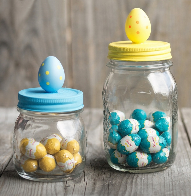 easter gifts home decor chocolate eggs jar