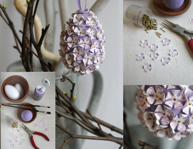 how to make flower ball with styrofoam