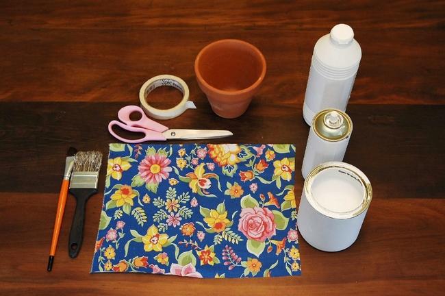 flower pots decor ideas fabric diy spring crafts materials