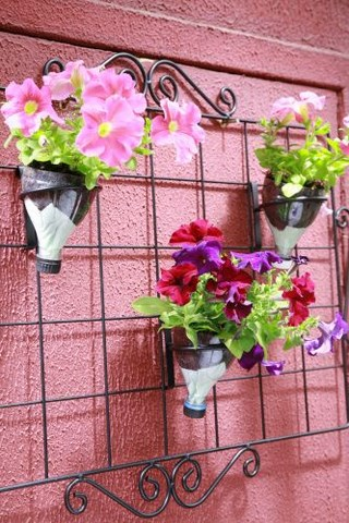 indoor hanging plant stand fun plastic bottle recycling