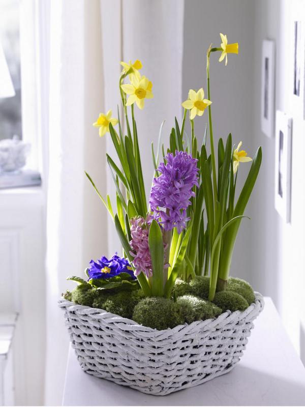 Flower Basket Arrangement Ideas : Spring decorating ideas refresh your home with