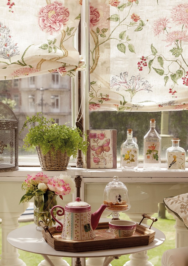 Diy Spring Decorations Windows Curtains Flower Pattern