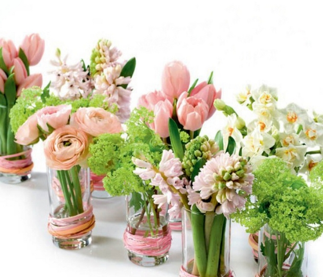 Diy spring table decorations and blooming centerpieces