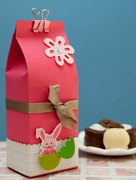 How to make cute Easter gift package and decorate it