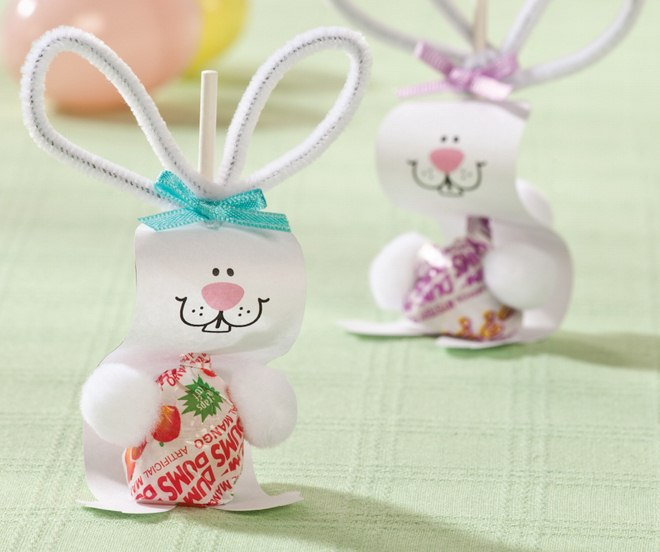 Diy easter bunny lollipops crafthubs 13 easter craft ideas and decorations free templates negle Images