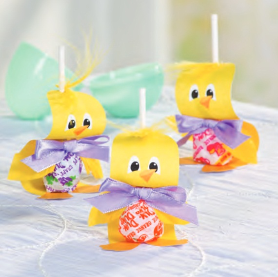 Easter Craft Ideas Gifts Kids Chickens Lollipops