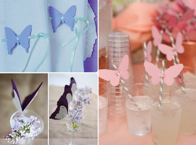 How to decorate drinking straws with paper butterlfies for Paper crafts for adults