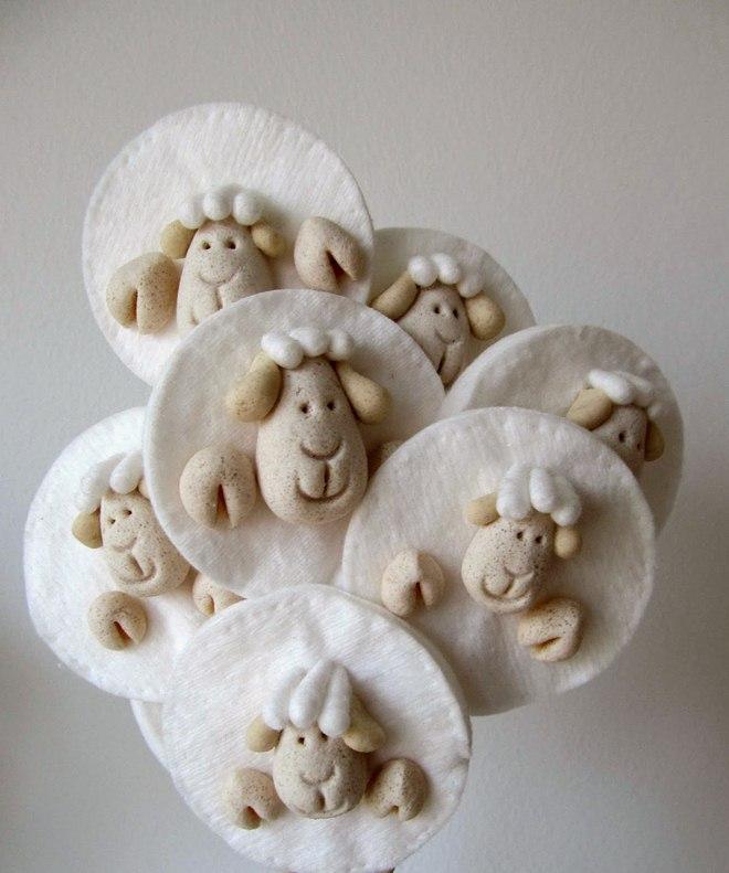 Easter Craft Ideas Sheeps Salt Dough Cotton Pads