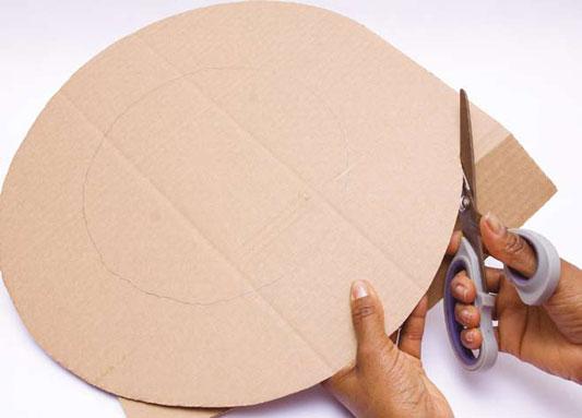 craft cardboard ring cutting easter egg wreath